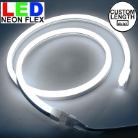Lampu Led neon flex Rope light Custom Warna putih / White meteran