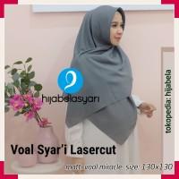 Hijab Segi Empat Voal Syari laser cut Kerudung Segi Jilbab Segiempat