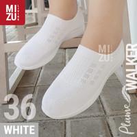 PLUME Walker Sepatu Jalan Santai SlipOn Jala Adem Sparkling Glitter - Sparkling White, 36