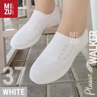 PLUME Walker Sepatu Jalan Santai SlipOn Jala Adem Sparkling Glitter - Sparkling White, 37