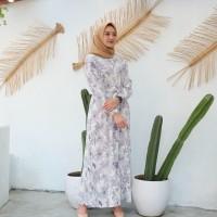 Baju Gamis Wanita Terbaru Plisket - Putih