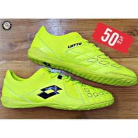 Sepatu Futsal Lotto Squadra IN Safety YellowBlack