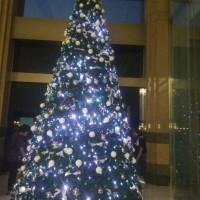 dekorasi pohon natal ukuran besar
