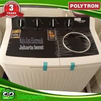 Mesin Cuci 2 Tabung Polytron 10 Kg PWM1358 Kering Dan Cuci Garansi 5TH
