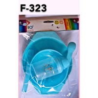 Ninio Baby Feeding Set 5in1 Piring Sendok Garpu Mangkok Juice Cup-F323