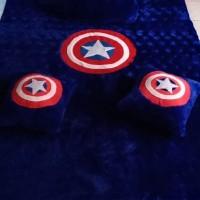 Surpet Karakter Kapten Amerika Murah 140×180×3cm / kasur karpet