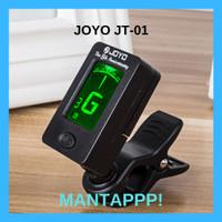 Tuner Joyo INCLUDE Baterai Rotatable JT-01 Clip On Tuning Stem Gitar