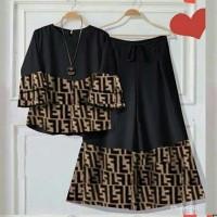 Baju Setelan Wanita Fashion Wanita Perempuan Hughes 11188