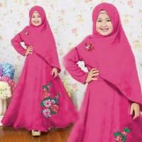 Baju Muslim Anak perempuan Fashion Anak Syari Naura Fanta 11189