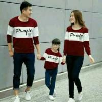 Hoodie Family Couple Baju Keluarga 1 Anak Lengan Panjang Pusple 11205