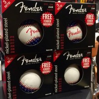 Fender 250L Electric Guitar Strings 3 pack with Free Baseball