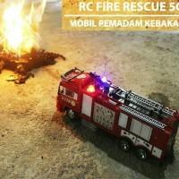 Mainan anak mobil rc truk pemadam kebakaran damkar bisa nyemprot air