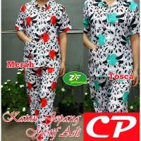 Piyama CP Panda Apple - Katun Jepang / Baju Tidur Murah Wanita Dewasa