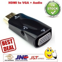 HDMI To VGA Dongle With Audio Murah