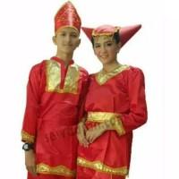 Baju padang Sma - Dewasa/Pakaian adat sumatra - Merah, CEWE