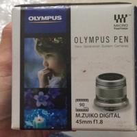 Lensa Fix Olympus Pen 45mm F1.8 Compatible Panasonic 45 equivalent 90m