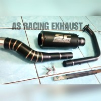 Knalpot sc project Gsx r150 knalpot racing sc project black doff
