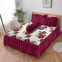 Kintakun Sprei Rumbai D'luxe - 180 x 200 B2 (King) - Scarlet