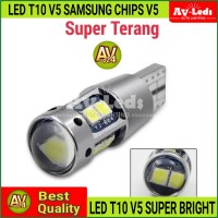 LAMPU LED T10 W5W V5 SAMSUNG CHIPS SUPERIOR