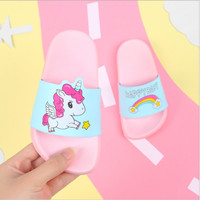 [H2Wshop]Sandal slop happy baby unicorn anak, sandal karet rumah - Pin
