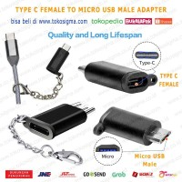 USB 3.1 Type-C Female to Micro USB Male Converter with Key Chain
