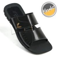 Sandal Pria Kulit Asli Sendal Santai Model Double Strap Y6680