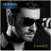 Kacamata Pria Hitam Luxury Aviator Original Veithdia Polarized Anti UV