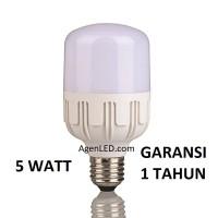 LAMPU LED 5W BOHLAM 5 W WATT white BULB JUMBO 3 4 5 6 8 PUTIH KAPSUL