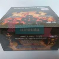 Charco Thunder Magic 10 quick-lite Charcoal Tablets Arang Aktif Shis