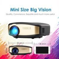 Cheerlux C6 Wireless Proyektor Projector WIFI 1200 ANSI Lumens TERBA