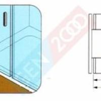 Shower Hinge Glass To Wall Engsel Shower Kaca ke Tembok 90 Derajat