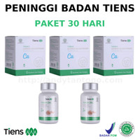 Paket 30 Hari Obat Peninggi Badan Tiens NHCP Zinc