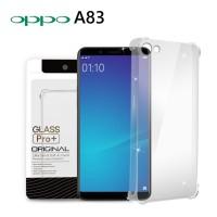 Premium Soft Case Oppo A83 Clear - Anti Crack Glass Pro