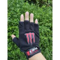 Sarung Tangan Motor Kain Half Finger Setengah Jari Fox Monster Energy