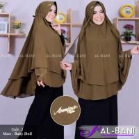 JILBAB / HIJAB - Khimar HJ (Pet Tali Jumbo 2 Layer) Ori Al-Bani