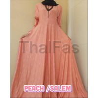 Gamis Embos kuning Jersey Polos Emboss Thalfas Relief