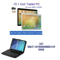 Tablet + keyboard 10 inch Android ram 8 gb rom 128 gb dual sim wifi - Silver