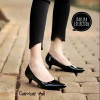 sepatu kerja wanita high heels 3cm pantofel polos hak heel lancip LUCI