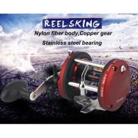 Reel OH Jigging Trolling Pancing Laut REELSKING JD500A 12 Ball Bearing