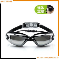 Grilong Kacamata Renang Dengan Penutup Telinga