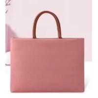Tas Laptop 14 inch sleeve Softcase jinjing waterproof - Pink