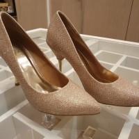 Noche Sepatu High Heels Shoes Glitter Highheels Wanita