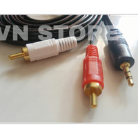 KABEL AUDIO TO RCA 2 GOLD PLATED 3M (1-2) / JACK 3.5 - 2 RCA 3 METER