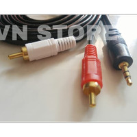 KABEL AUDIO TO RCA 2 GOLD PLATED 1.5M (1-2) / JACK 3.5 - 2 RCA 1.5 MTR