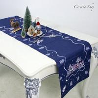 Taplak Meja Natal - Table Runner Christmas Bordir 40x180cm