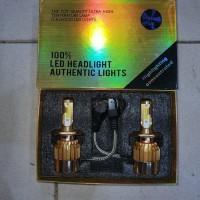 lampu led h4 dua warna gold series dual color gold n white lampu led m