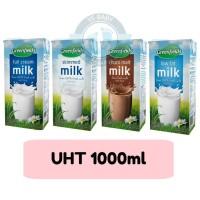 UHT Greenfields Fullcream / Chocomalt / Low Fat / Skim Milk 1000ml
