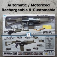 NERF STRYFE AK47 WORKER - Otomatis Modulus Compatible - BLACK 551B-4