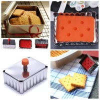 Classical Rectangle Shape Cookie Mold Stainless Steel/ Cetakan Kue