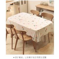 Taplak Meja Makan Plastik Anti Air Alas table cloth peva 137 X 180 cm